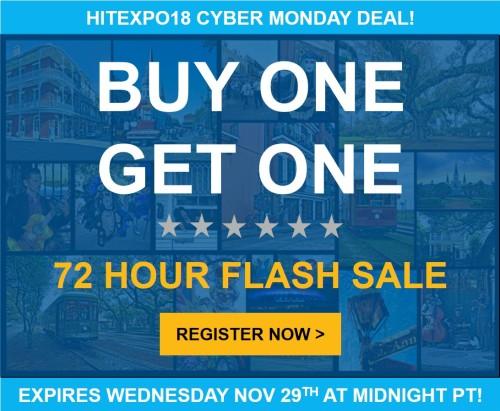HITExpo18 – BOGO Offer
